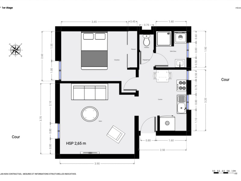 Sale apartment Paris 15ème 490000€ - Picture 11