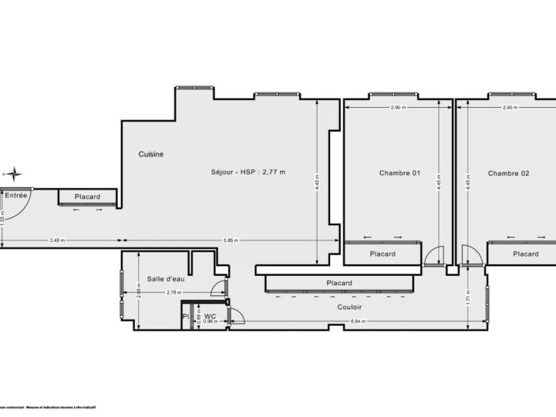 Sale apartment Paris 840000€ - Picture 10