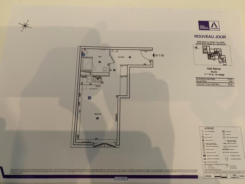 Location appartement Boulogne billancourt 1000€ CC - Photo 4