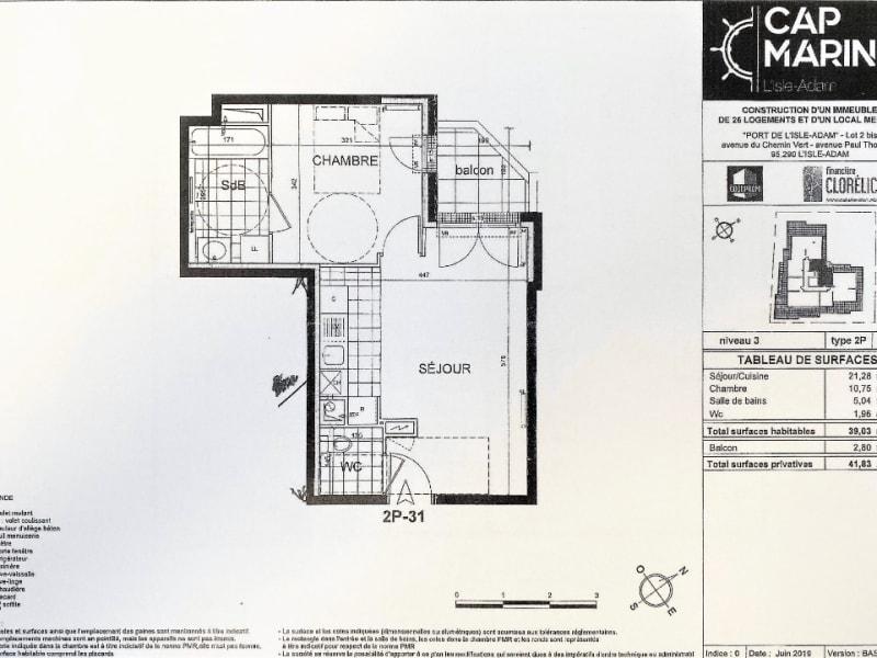 Rental apartment L isle adam 895€ CC - Picture 5