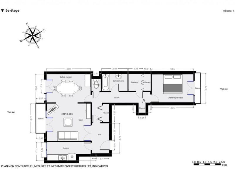 Sale apartment Paris 563000€ - Picture 10