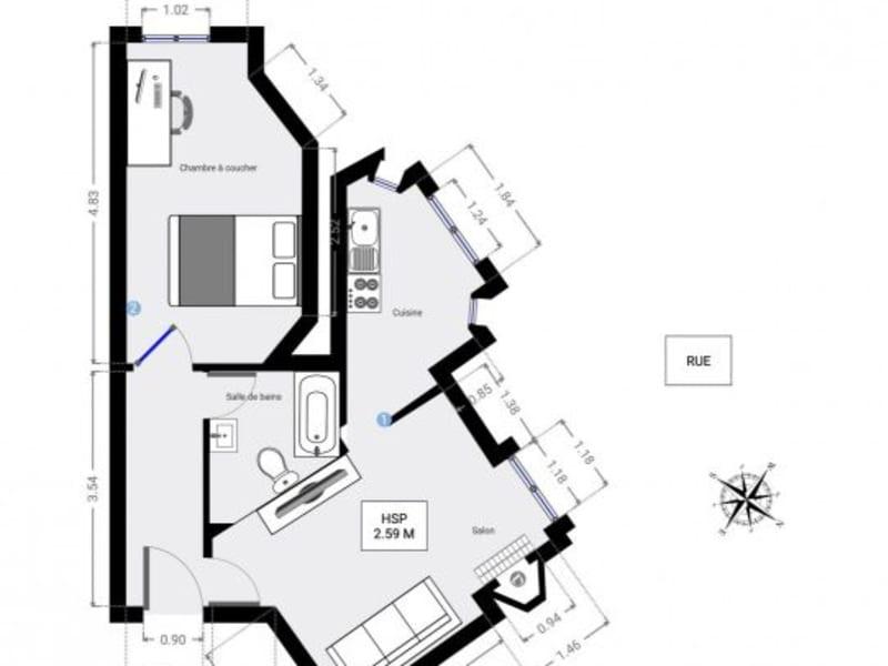 Sale apartment Paris 435000€ - Picture 10