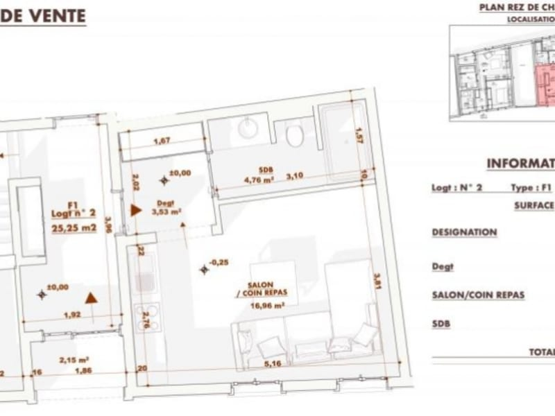 Ingwiller - 1 pièce(s) - 25.25 m2