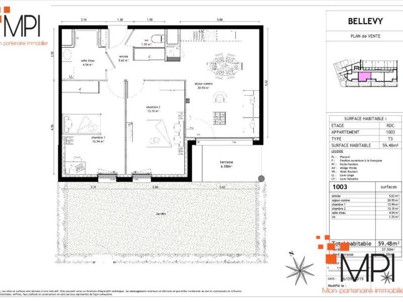 Vente appartement Vezin le coquet 189000€ - Photo 3