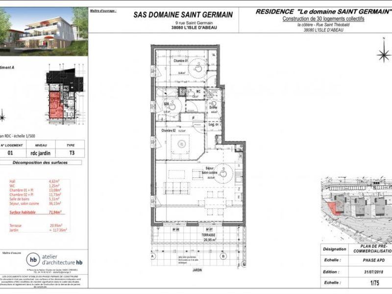Revenda apartamento L isle d abeau 217280€ - Fotografia 2