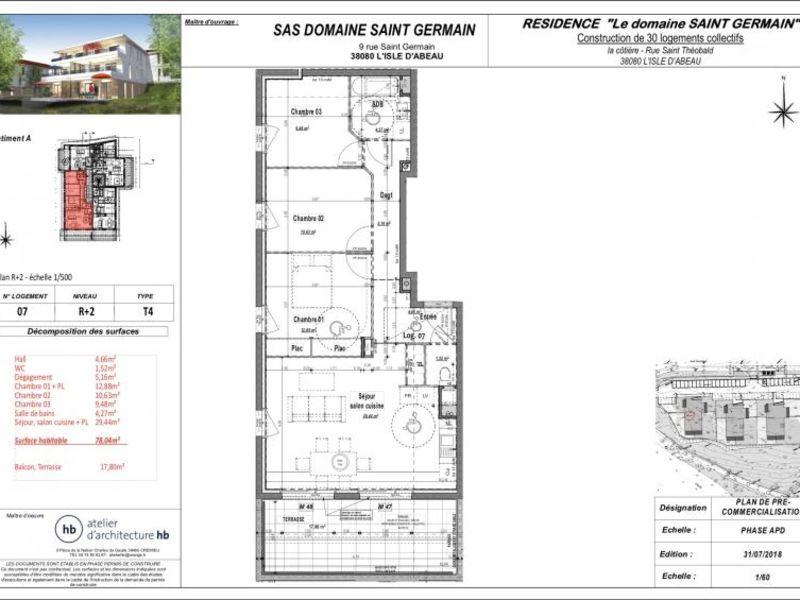 Sale apartment L isle d abeau 232600€ - Picture 2