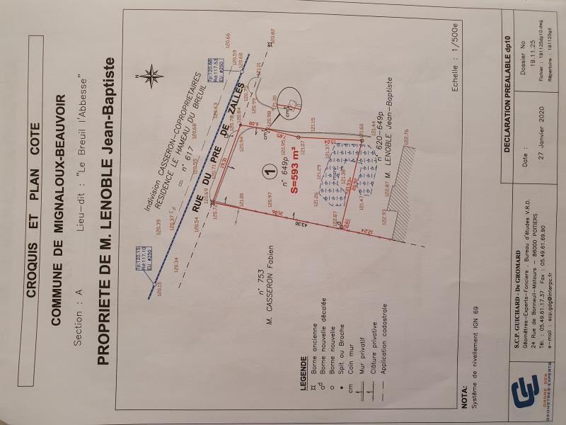 Vente terrain Mignaloux beauvoir 69000€ - Photo 1