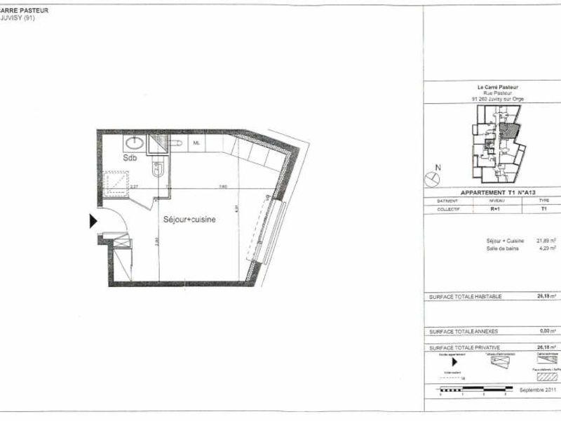 Rental apartment 91260 556,88€ CC - Picture 2