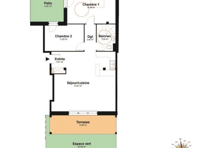 Vendita appartamento Eckwersheim 229000€ - Fotografia 4