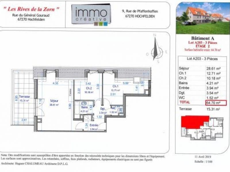 Vente appartement Hochfelden 190000€ - Photo 4