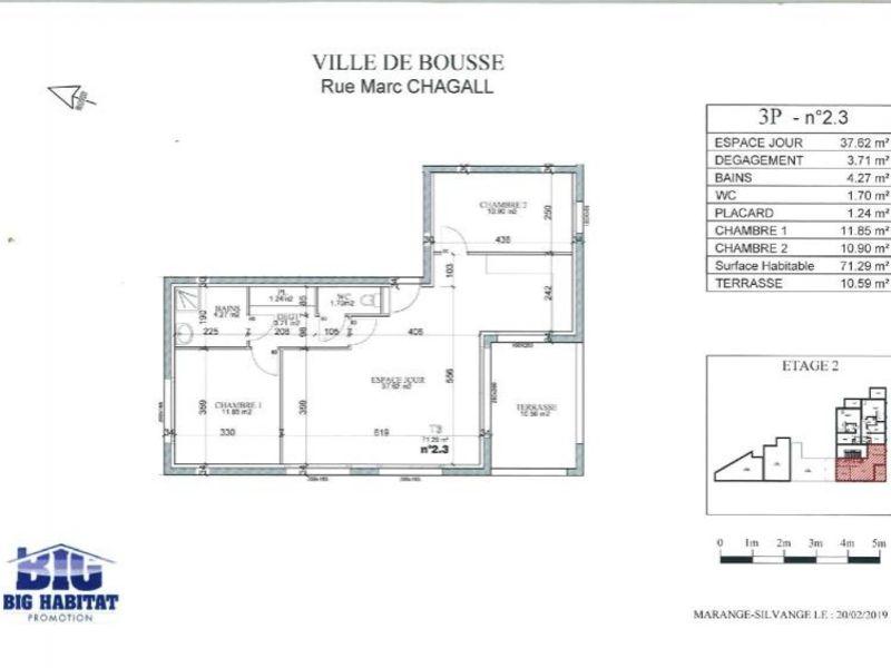 Sale apartment Bousse 205000€ - Picture 5