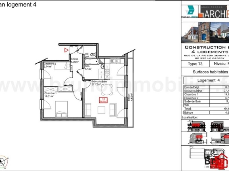 Verkoop  appartement Le crotoy 294500€ - Foto 5