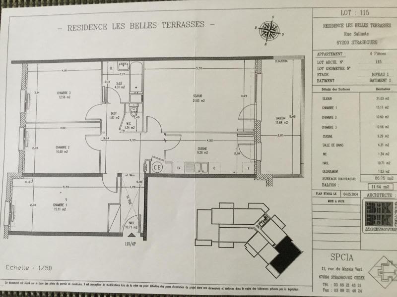 Location appartement Strasbourg 851€ CC - Photo 2