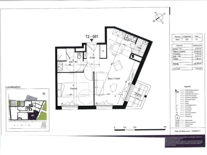 Sale apartment Nantes 208000€ - Picture 3