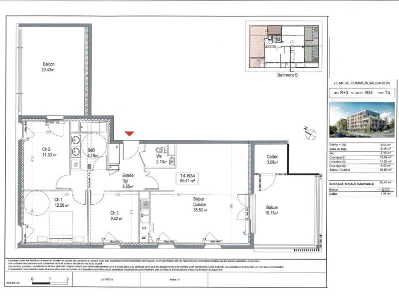 Sale apartment Reze 261000€ - Picture 4