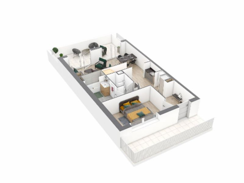 Venta  apartamento Nantes 286000€ - Fotografía 4