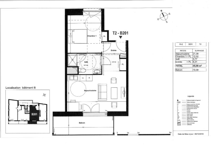 Venta  apartamento Coueron 181000€ - Fotografía 4