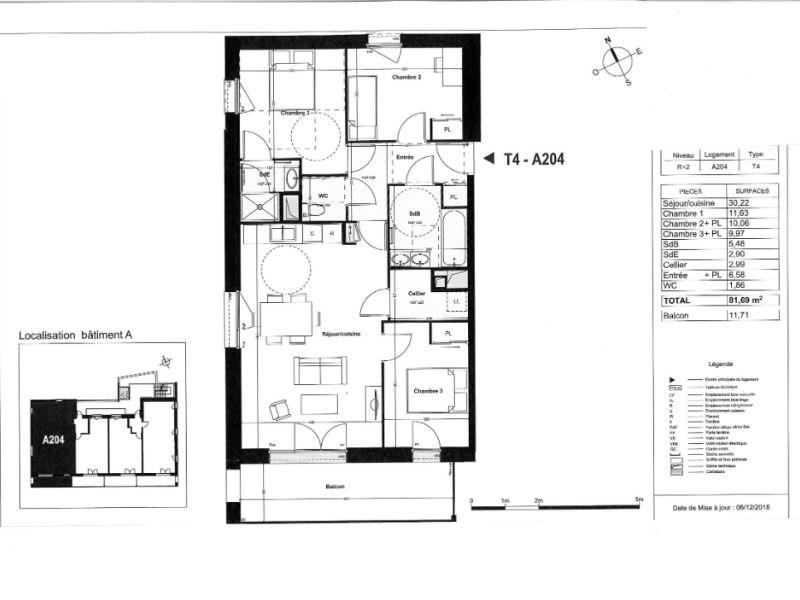Venta  apartamento Coueron 310000€ - Fotografía 4