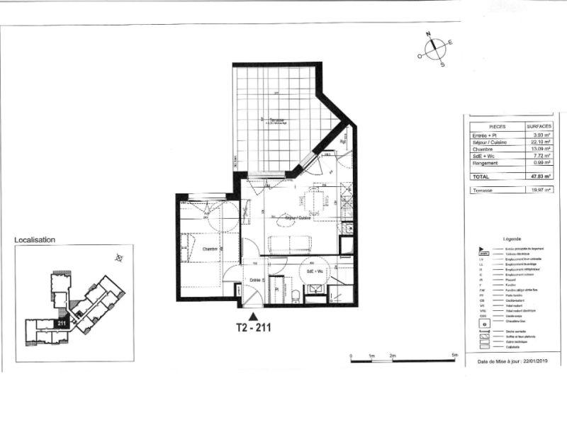 Venta  apartamento La rochelle 208000€ - Fotografía 3