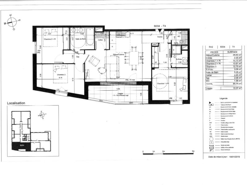 Venta  apartamento Angers 338000€ - Fotografía 5
