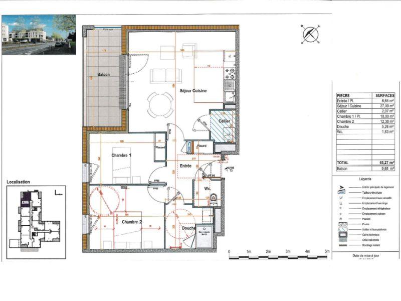 Venta  apartamento Angers 231000€ - Fotografía 3