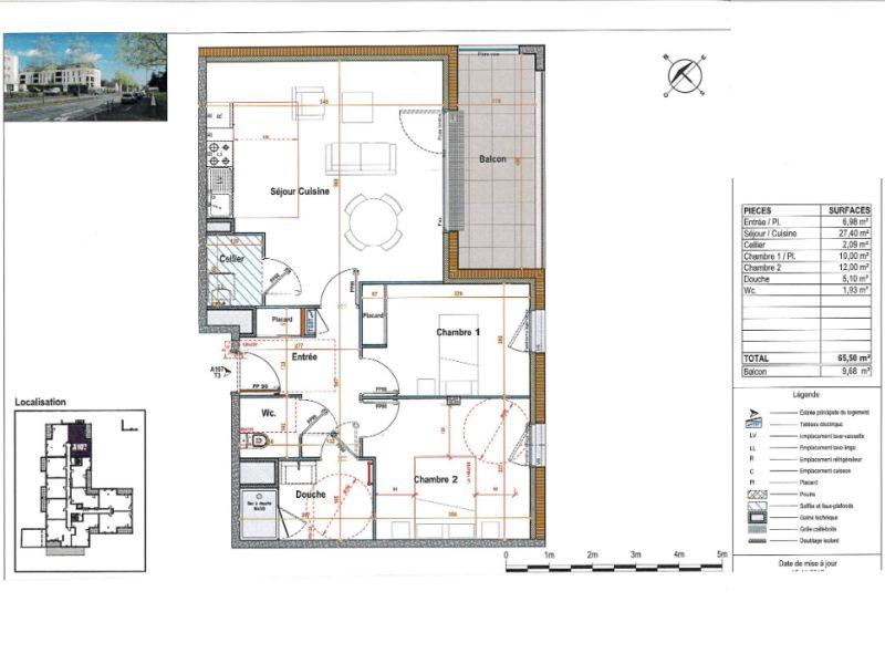 Venta  apartamento Angers 233000€ - Fotografía 3