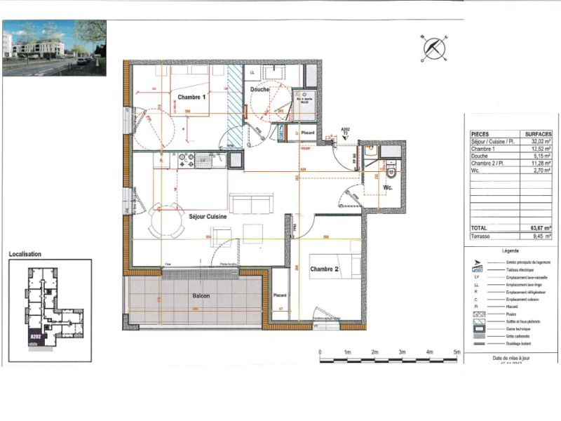 Venta  apartamento Angers 227000€ - Fotografía 3