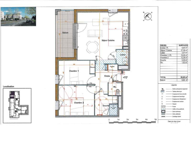 Venta  apartamento Angers 241000€ - Fotografía 3