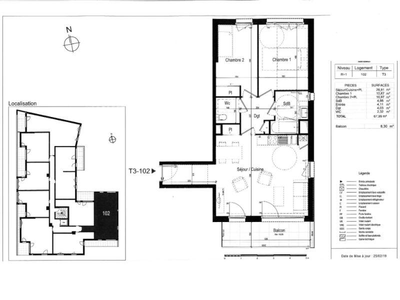 Venta  apartamento Rennes 321000€ - Fotografía 3