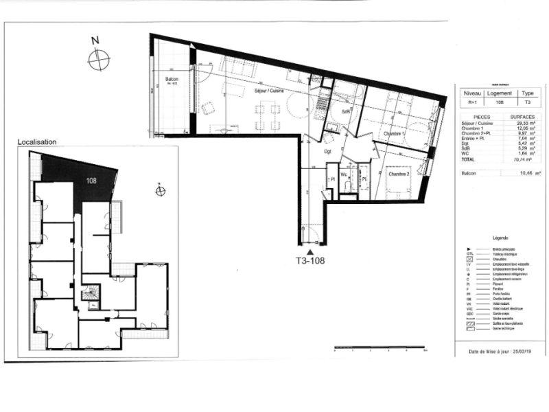 Venta  apartamento Rennes 317000€ - Fotografía 3