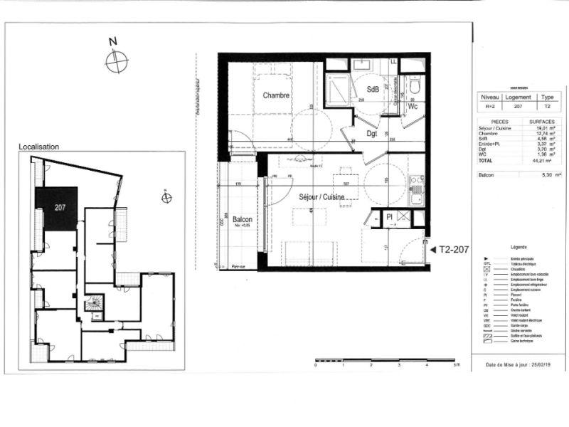 Venta  apartamento Rennes 221000€ - Fotografía 3
