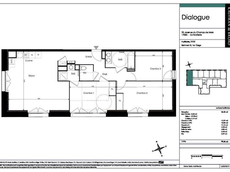 Venta  apartamento La rochelle 498750€ - Fotografía 2