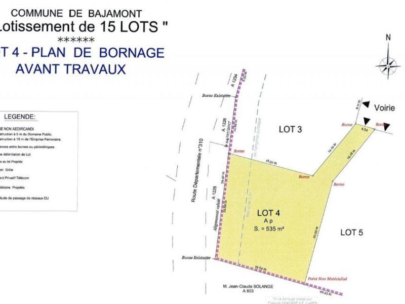 Venta  terreno Bajamont 41000€ - Fotografía 1