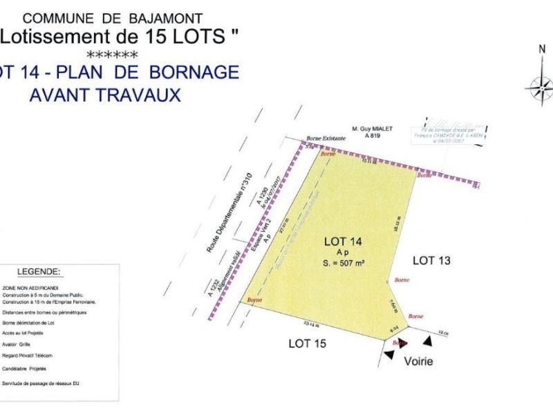Terrain à bâtir - 510 m2