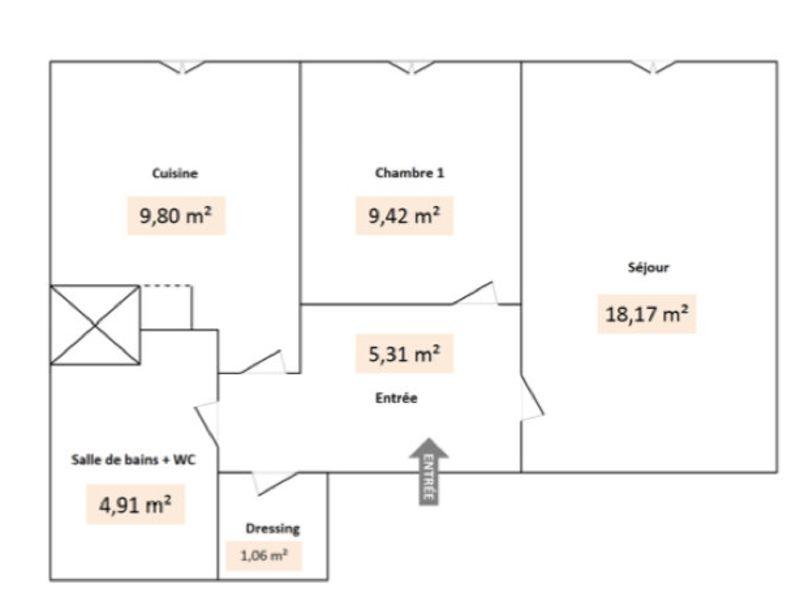 Villeurbanne - 2 pièce(s) - 48,67 m2