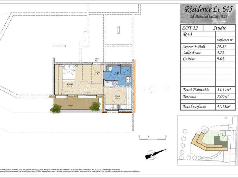 Sale apartment Èze 223500€ - Picture 4