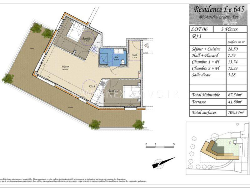 Sale apartment Èze 449200€ - Picture 4