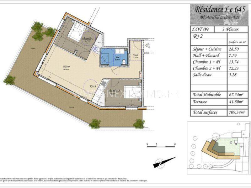 Vendita appartamento Èze 461900€ - Fotografia 4