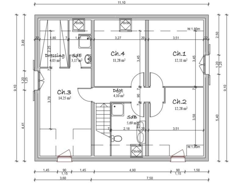 Vendita casa La mure 244000€ - Fotografia 8