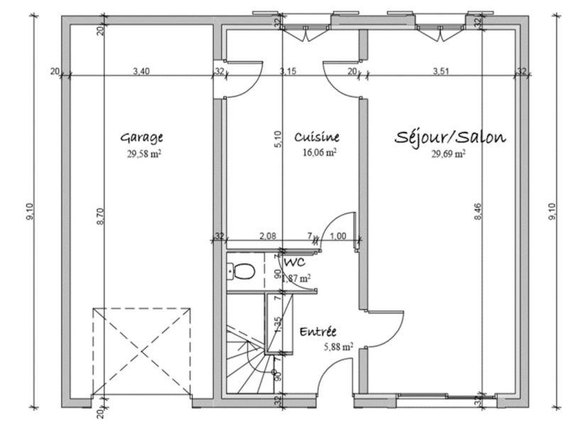 Vendita casa La mure 244000€ - Fotografia 9