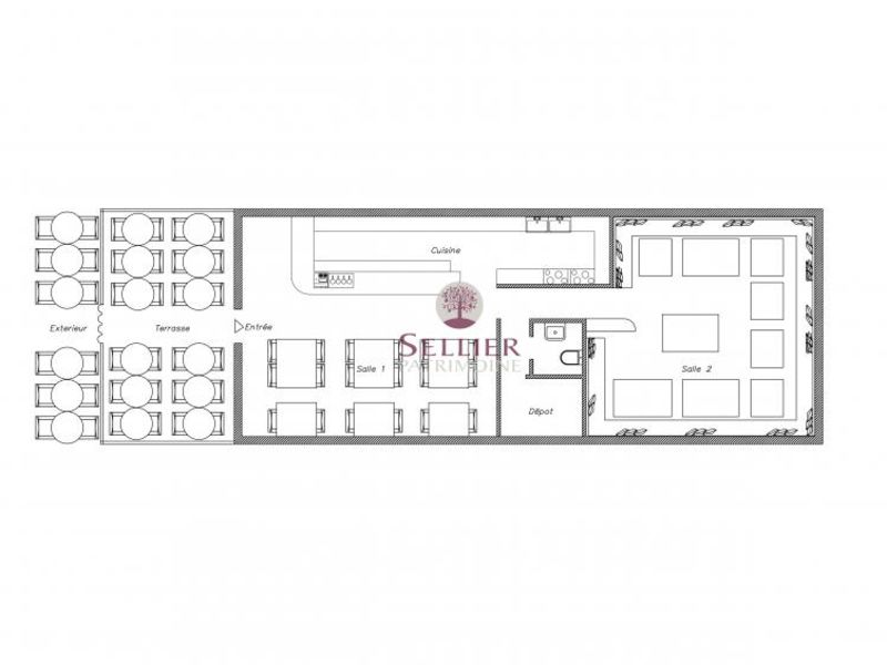 Commercial property sale shop Paris 5ème 1210000€ - Picture 3