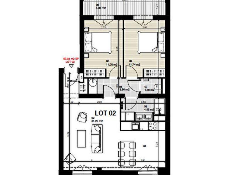 Vente appartement Bordeaux 466000€ - Photo 6