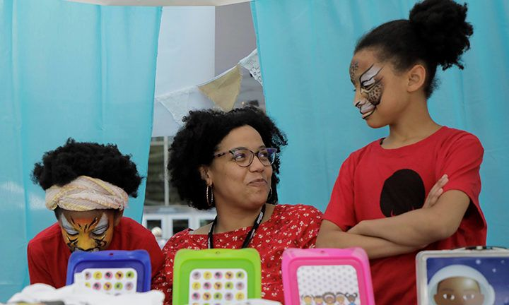 Soapbox Theory's booth at My Peoples Market, summer 2018, showcased their kid-friendly accessories, home decor, clothes and more.