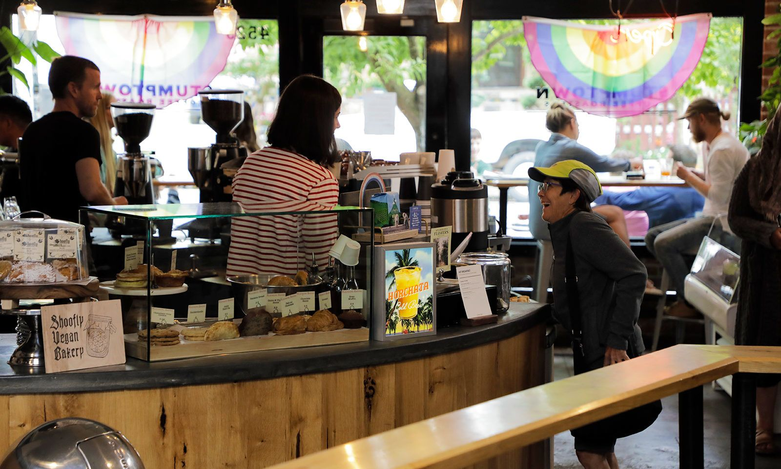 One of Portland's original coffee roasters, Stumptown Coffee on Southeast Division Street is a local favorite.