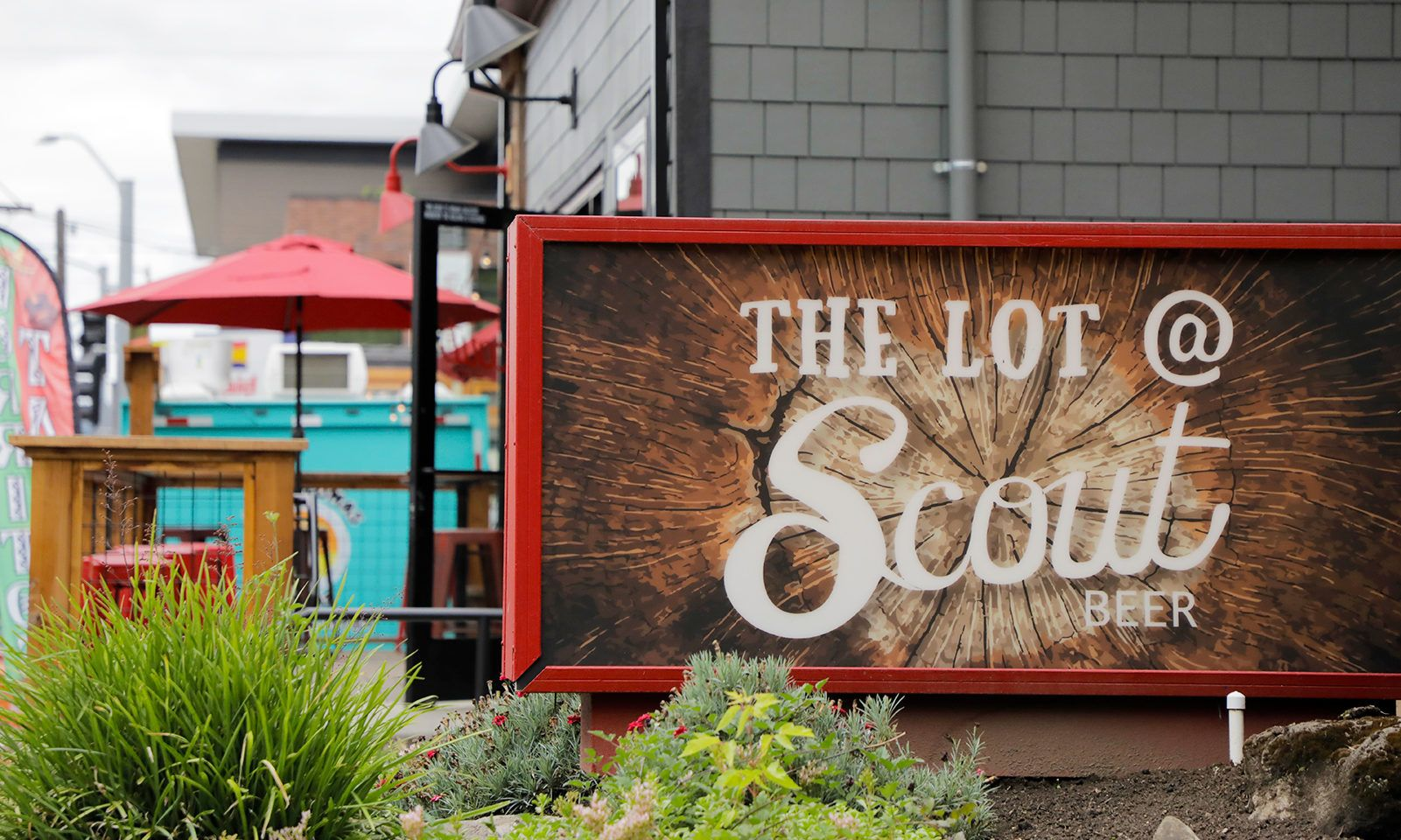 When hunter or thirst strikes, head to The Lot at Scout Beer in Southeast Portland, where multiple food carts share space with a beer taproom.