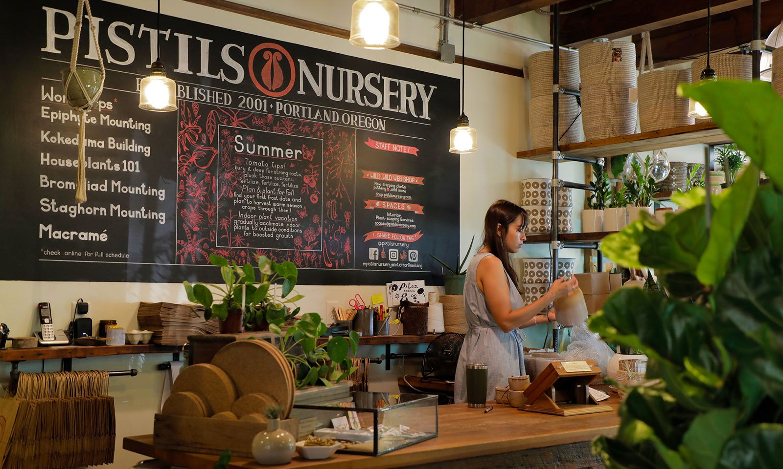 Pistils Nursery on North Mississippi Avenue offers plenty of gardening supplies, plants and resources, including a build-your-own-terrarium station.