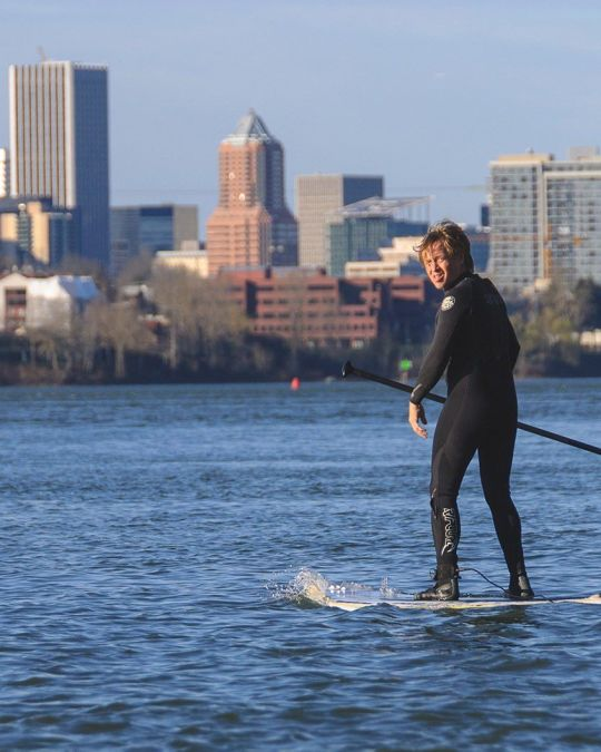 Enjoy unparalleled views of downtown Portland on a stand-up paddleboard.