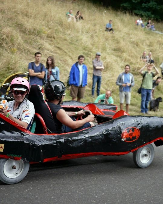 The PDX Adult Soapbox Derby returns to Mt. Tabor Park each year.