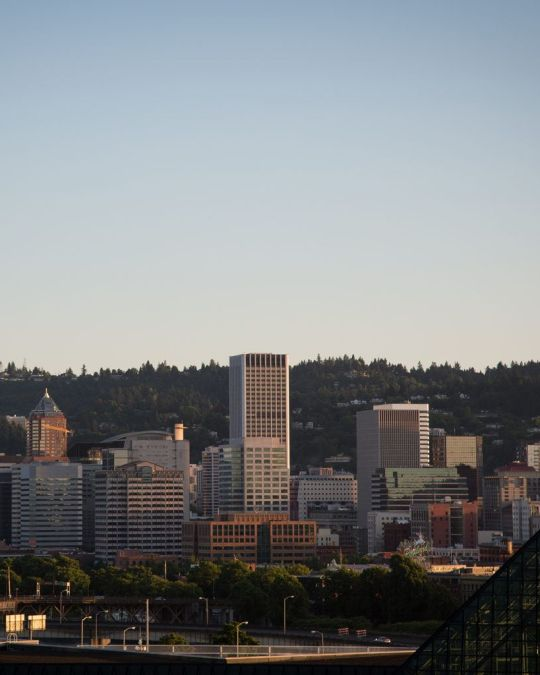 In Lloyd you can catch a Blazers game and a great view of downtown.