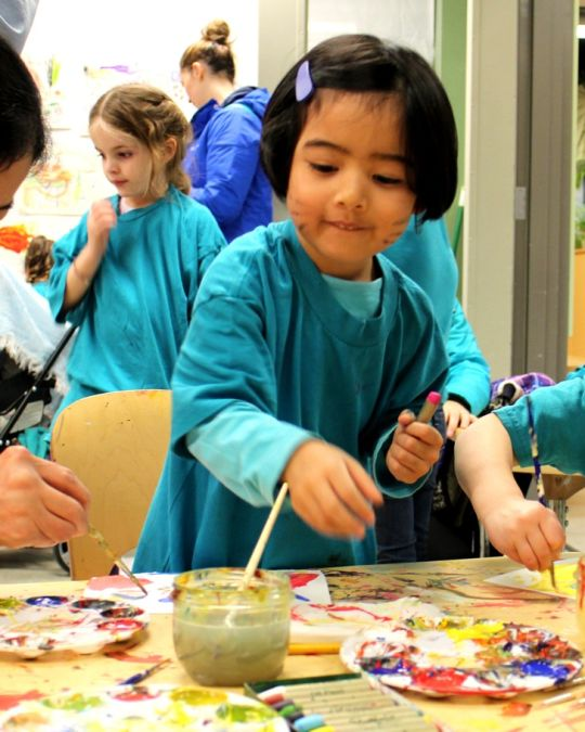 Families play and learn together at the Portland Children\'s Museum.